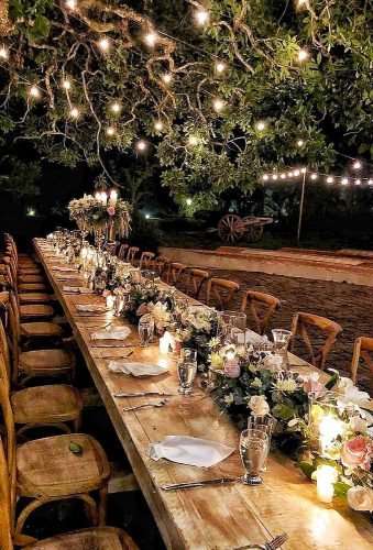 wedding light ideas yard reception decor byanacristinaramirez