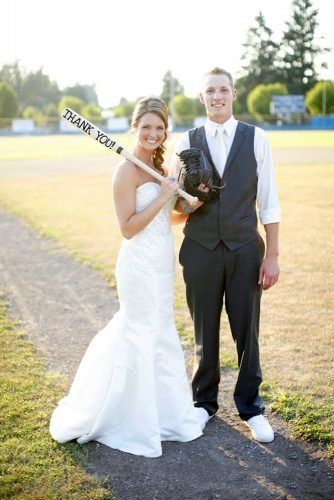 wedding party pictures sport fans baseball couple at field a life in flight 365