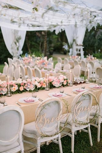 wedding trends 2020 pink and pastel reception décor under the tent darinimages