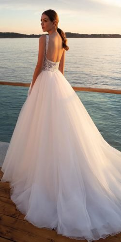 ball gown wedding dresses lace top tulle skirt country demetriosbride