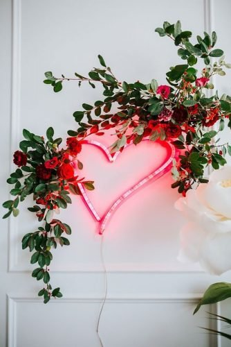 cheap wedding decorations neon heart Samantha Heather Photography