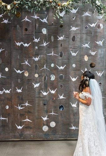 cheap wedding decorations paper birds Dawn E. Roscoe Photography