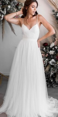 country style wedding dresses a line with straps simple rustic wearyourlovexo