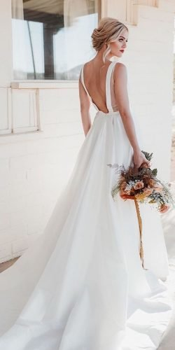 country style wedding dresses simple a line open back lindsay hackney