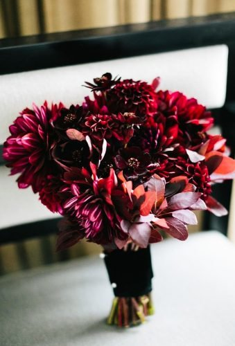 dahlias wedding bouquets burgundy dahlia chazcruz