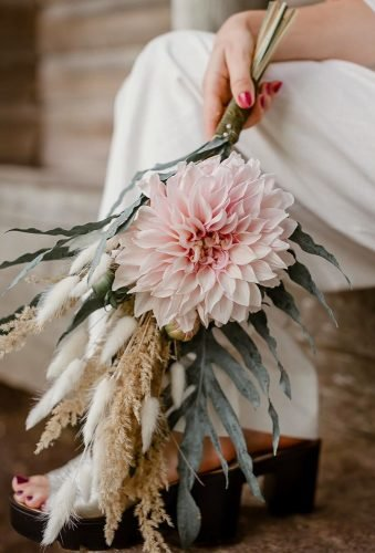 dahlias wedding bouquets single boho dahlia zalia melyne
