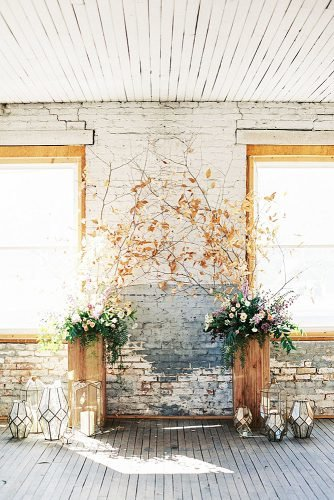 fall wedding decorations chic aisle decor