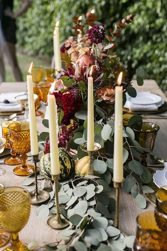 fall wedding decorations floral wedding centerpieces