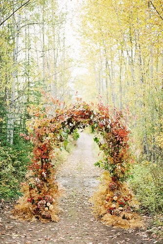 fall wedding decorations wedding arch foliage
