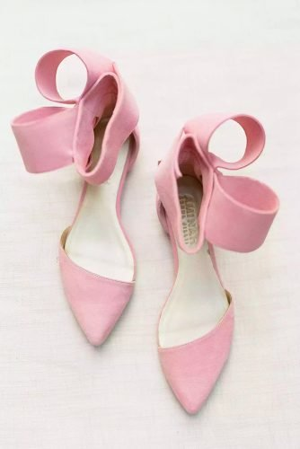 flat wedding shoes pink colored simple comfortable aminah abdul jillil