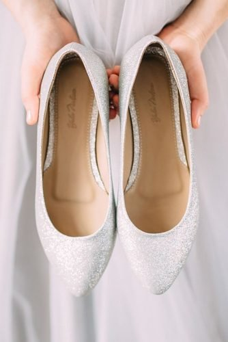 flat wedding shoes sparkle simple comfortable yulanda