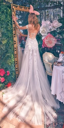 galia lahav wedding dresses a line illusion low back lace with train 2020