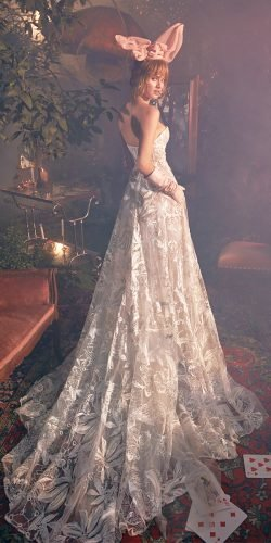 galia lahav wedding dresses a line low back with train floral 2020
