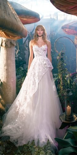galia lahav wedding dresses a line strapless neckline with 3d floral 2020