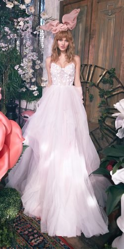 galia lahav wedding dresses ball gown sweetheart strapless neckline 3d floral tulle silk skirt 2020