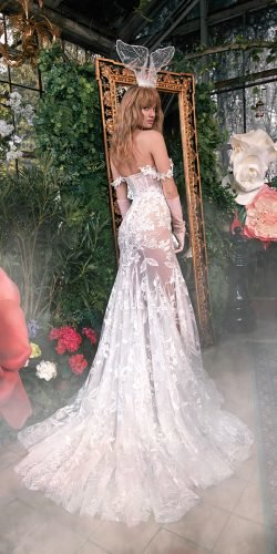 galia lahav wedding dresses mermaid off the shoulder 3d floral sexy 2020