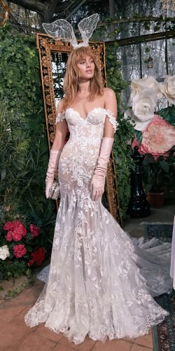 galia lahav wedding dresses mermaid off the shoulder straps lace appliques 2020