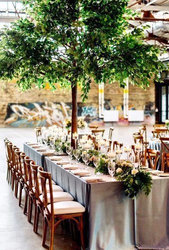 greenery wedding decor amazing green tree erinblackwoodphoto