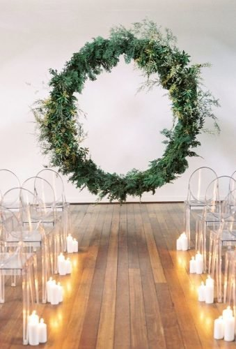 greenery wedding decor flower wreath arch Katie Grant