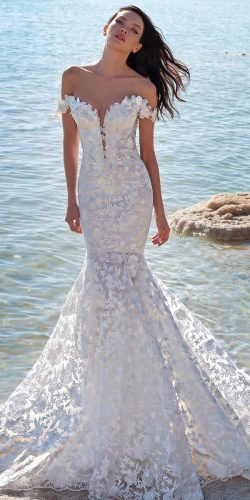 hottest wedding dresses 2020 mermaid sweetheart neckline off the shoulder beach pninatornai
