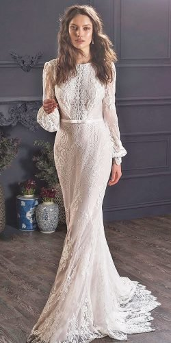 hottest wedding dresses 2020 sheath long sleeves lace modest bohemian lihihod