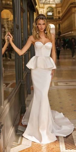 hottest wedding dresses 2020 simple mermaid strapless neckline sweetheart berta