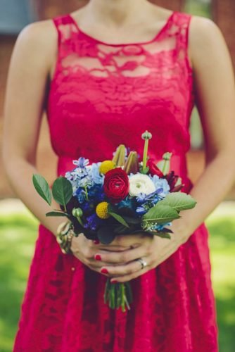 independence day wedding small bouquet Brook Courtney Photography