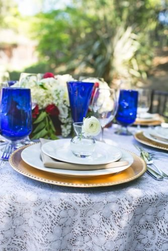 independence day wedding table decor Hazy Lane Studios