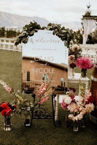 mirror wedding ideas modern reception sign Jordana Griffith