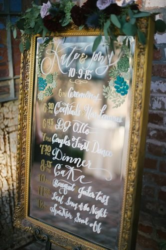mirror wedding ideas reception sign Lauren Carroll Photography