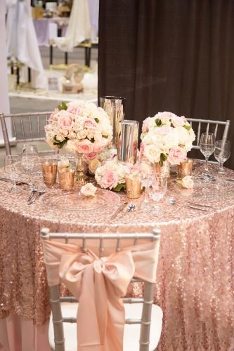 rose gold wedding decor chic table decor Adam Frazier