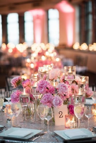 rose gold wedding decor floral accent Ira Lippke Studios