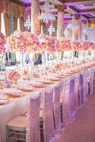 rose gold wedding decor reception decor keshdesignsinc