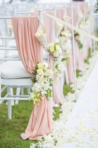 rose gold wedding decor wedding chairs for ceremony Darinimages