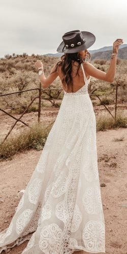 rustic wedding dresses a line backless with straps barn dreamersandlovers