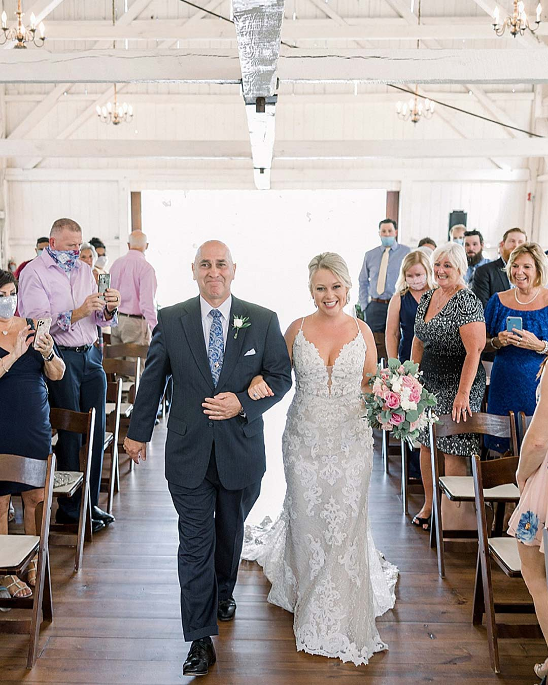 rustic wedding ideas ceremony barn aisle