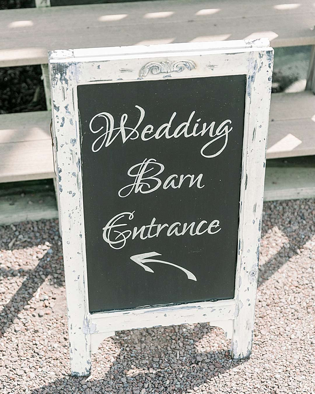 rustic wedding ideas wooden venue sign chalkboard