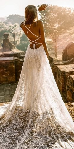 sexy wedding dresses ideas a line x cross back lace rustic for beach flora and lane