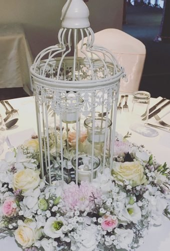 shabby chic vintage wedding decor ideas flower centerpiece vmfloraldesigns
