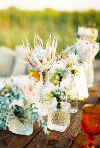 shabby chic vintage wedding decor ideas reception flowers Olivia Leigh Photographie