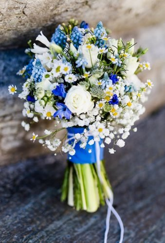 silk wedding bouquets blue wedding bouquet evgenia rieger wedding