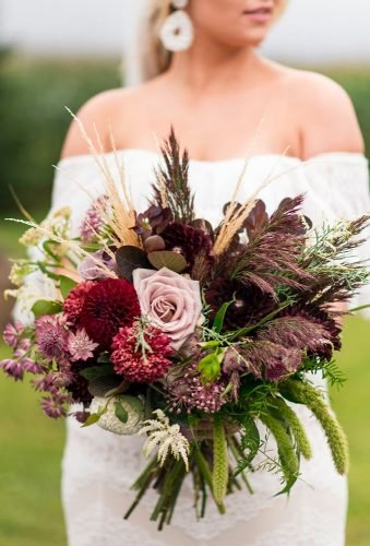 silk wedding bouquets camuflage bouquet rachelaclingen
