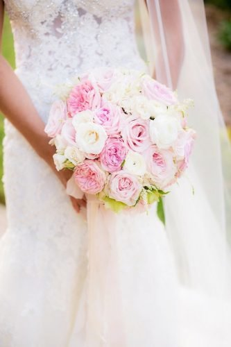 silk wedding bouquets pink silk bouquet Clove Kin