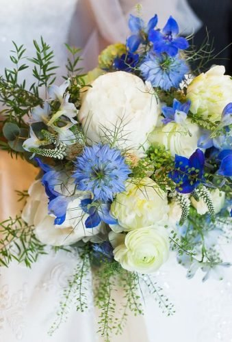 silk wedding bouquets tender blue bouquet jennyophoto