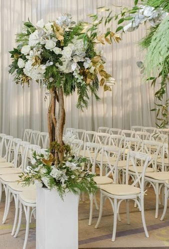 simply chic wedding flower decor ideas floral tree mangostudios