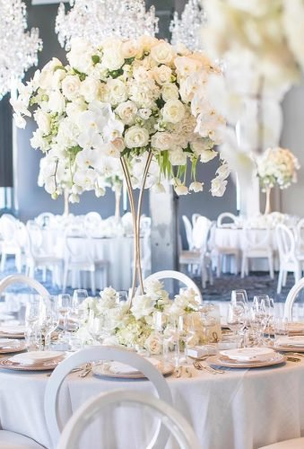 simply chic wedding flower decor ideas high floral centerpiece johnemmanuelfloralevents