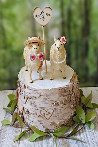 unique wedding cake toppers cute lama MorganTheCreator