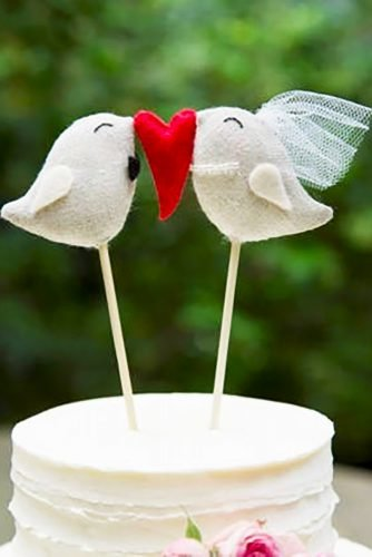 unique wedding cake toppers diy birds DoTheDeco