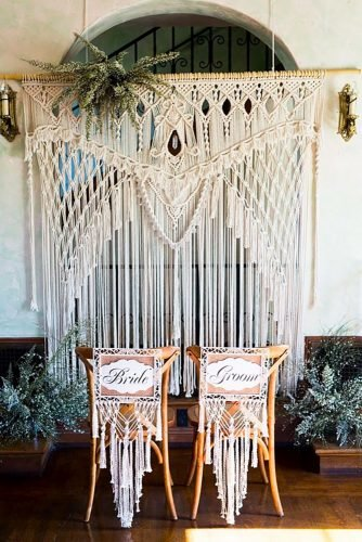 wedding backdrop ideas macrame wedding backdrop MacrameElegance