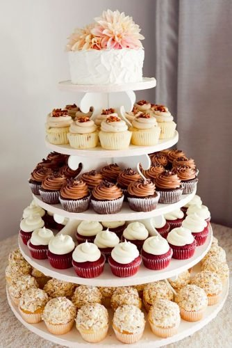 wedding cake alternatives wedding cupcakes Heather Scharf Photography